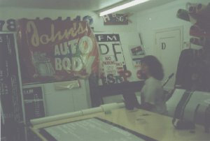 joanne at sign shop